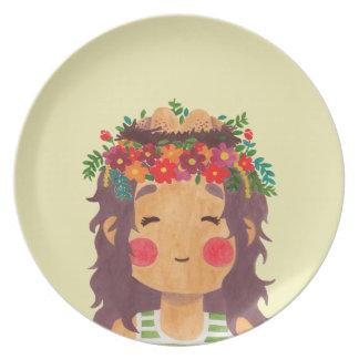 Bird Nest Girl in the Spring Season Dinner Plate