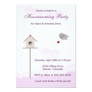 Bird Nest Housewarming Party Invitations