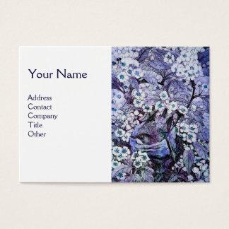 BIRD NEST,monogram ,blue white Business Card