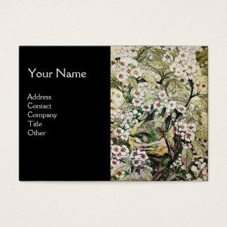 BIRD NEST,monogram ,green brown white black Business Card