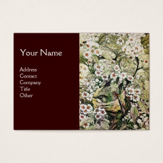BIRD NEST,monogram ,green brown white Business Card