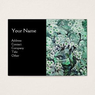 BIRD NEST,monogram ,green white black Business Card