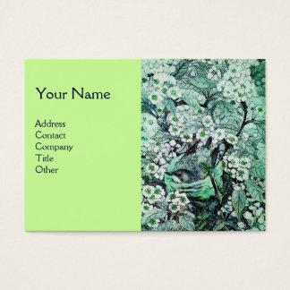 BIRD NEST,monogram ,green white Business Card