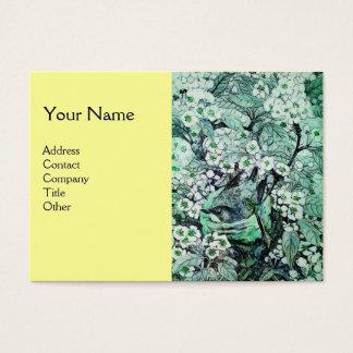 BIRD NEST,monogram ,green white yellow Business Card