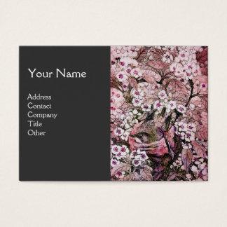 BIRD NEST,monogram ,pink red  white black grey Business Card