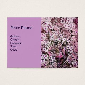 BIRD NEST,monogram ,pink red  white violet Business Card