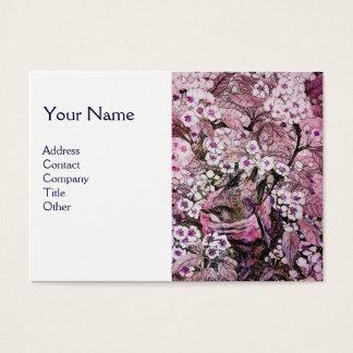 BIRD NEST,monogram ,pink white Business Card