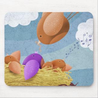 Bird nest mouse pad