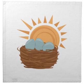 Bird Nest Printed Napkin