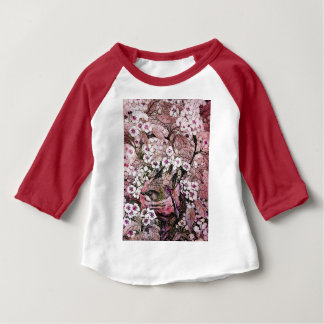 BIRD NEST,PINK WHITE  SPRING FLOWERS AND TREE BABY T-Shirt