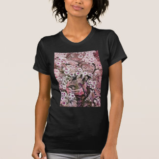 BIRD NEST,PINK WHITE  SPRING FLOWERS AND TREE T-Shirt