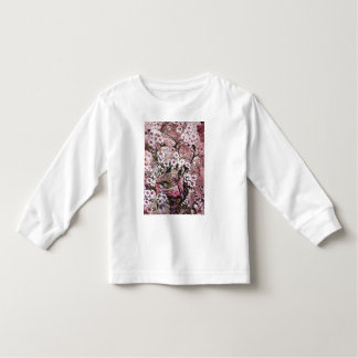 BIRD NEST,PINK WHITE  SPRING FLOWERS AND TREE TODDLER T-SHIRT