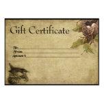 Bird & Nest- Prim Gift Certificate Cards Large Business Card