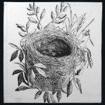 "bird nest vintage illustration cloth napkin<br><div class=""desc"">Nest of sedge-warbler bird vintage illustration. Sourced from antique book &quot;The Playtime Naturalist&quot; by Dr. J.E. Taylor,  published in London UK,  1889.</div>"