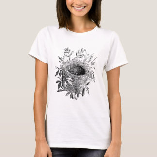 bird nest vintage illustration T-Shirt