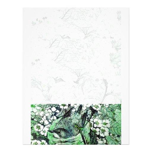 BIRD NEST ,white green Letterhead