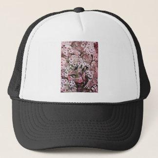 BIRD NEST ,white red pink Trucker Hat