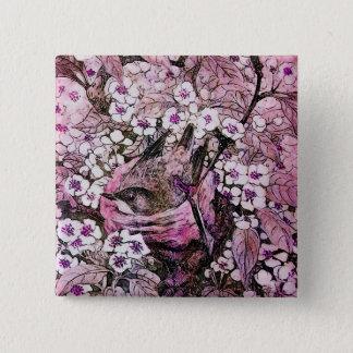 BIRD NEST ,white red pink violet Pinback Button