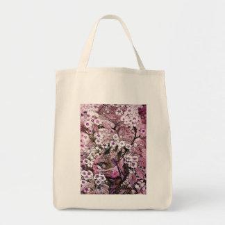 BIRD NEST ,white violet pink Tote Bag