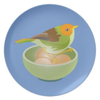 BIrd Nesting Party Plates