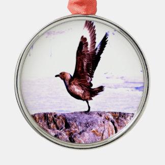 bird Nice Take off Metal Ornament
