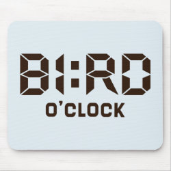 Mousepad with Bird O'Clock design