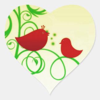 Bird of Faith ! Heart Sticker
