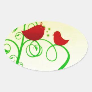 Bird of Faith ! Oval Sticker