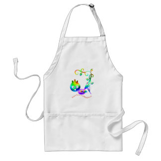 bird of happiness adult apron