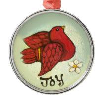 Bird of Joy Metal Ornament