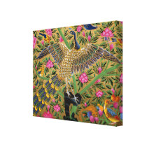 Bird of Life Wrapped Canvas Print