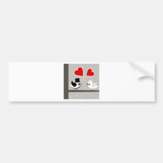 Bird of love3 bumper sticker