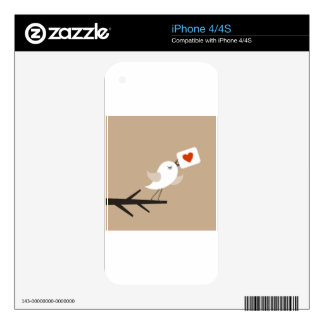 Bird of love5 decal for iPhone 4