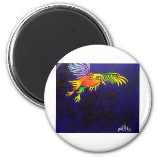Bird of Night 2 Inch Round Magnet