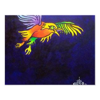 Bird of Night 4.25x5.5 Paper Invitation Card