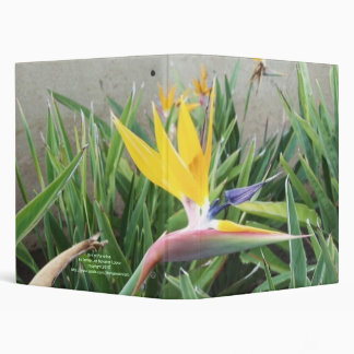 Bird of Paradise 3 Ring Binder