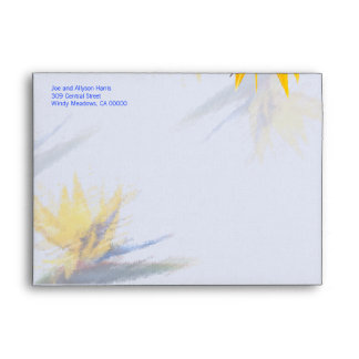 Bird of Paradise A7 Size Decorated Custom Envelope