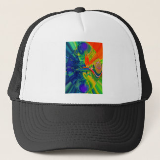 Bird Of Paradise Abstract Flower Trucker Hat