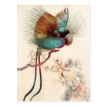 Bird of Paradise and Fairies Postcard