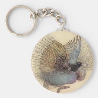 Bird of Paradise Art Illustration Keychain