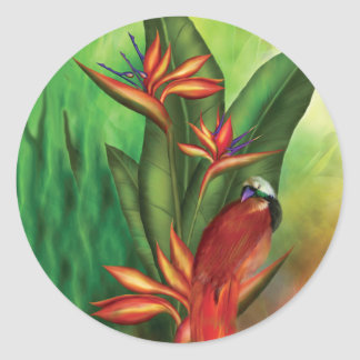 Bird Of Paradise Art Sticker