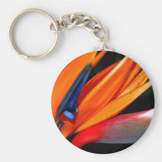 Bird of Paradise Basic Round Button Keychain