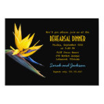 Bird of Paradise Black Beach Rehearsal Dinner Personalized Invitation
