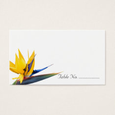Bird Of Paradise Blank Wedding Escort Cards at Zazzle