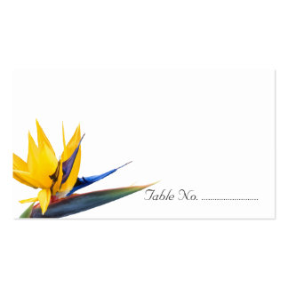 Bird of Paradise Blank Wedding Escort Cards Business Card