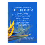Bird of Paradise Blue Fun Saying Rehearsal Dinner 4.5x6.25 Paper Invitation Card