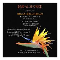 Bird of Paradise Bridal Shower Invitation