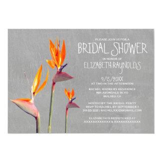 Bird of Paradise Bridal Shower Invitations