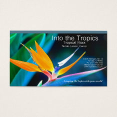 Bird-of-paradise Business Card at Zazzle