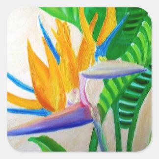 Bird of Paradise Design Square Sticker